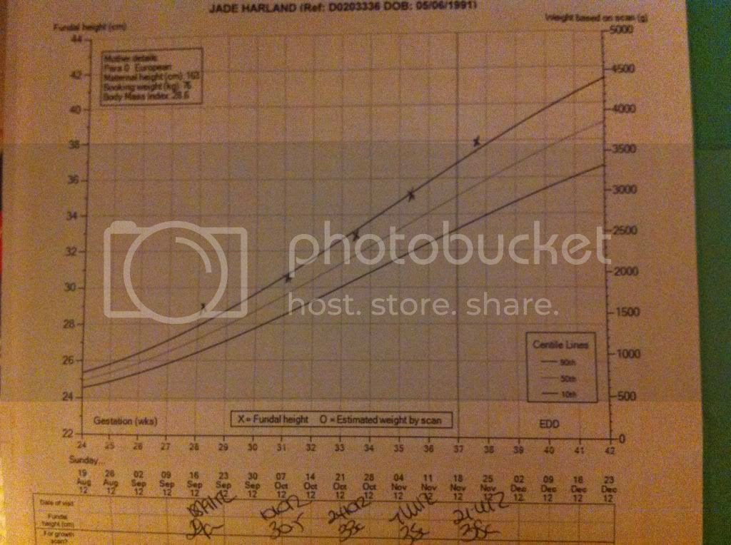Fundal Height Chart By Week - Gallery Of Chart 2019