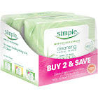 Simple Cleansing Facial Wipes - 2 pack, 25 count each