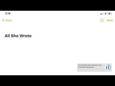 Justin Bieber - All She Wrote Lyrics