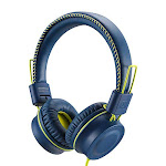 POWMEE M2 Kids Headphones Wired Headphone for Kids,Foldable Adjustable Stereo Tangle-Free,3.5MM Jack Wire Cord On-Ear Headphone for Children/Teens/