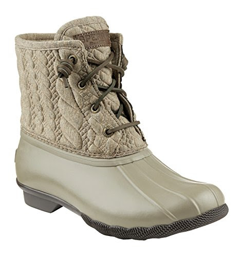 Sperry Top-Sider Women's Saltwater Rope Emboss Neoprene Taupe Boot 8 M (B)