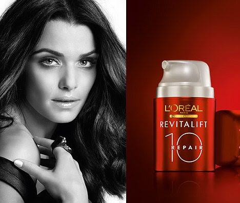 Irrealistas: Hollywood atriz Rachel Weisz, 41 anos, parece 20 anos mais jovem neste proibiu campanha L'Oreal