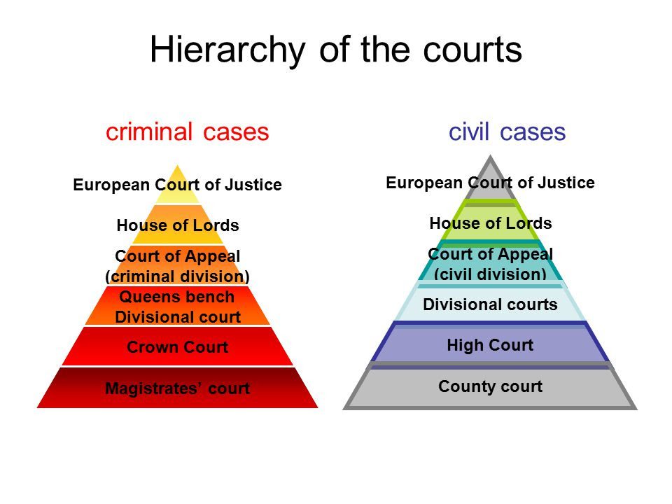 Hierarchy+of+the+courts+criminal+cases+civil+cases