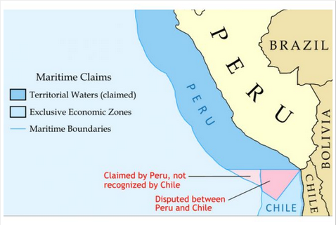 the peruvian/chilean maritime border: a view from facebook