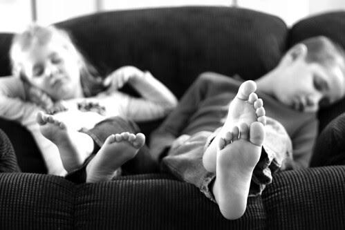 Resting Kiddos b/w by Mel Brown Photography