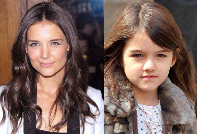 Shared crop: Katie Holmes and Suri Cruise boast flowing, glossy locks