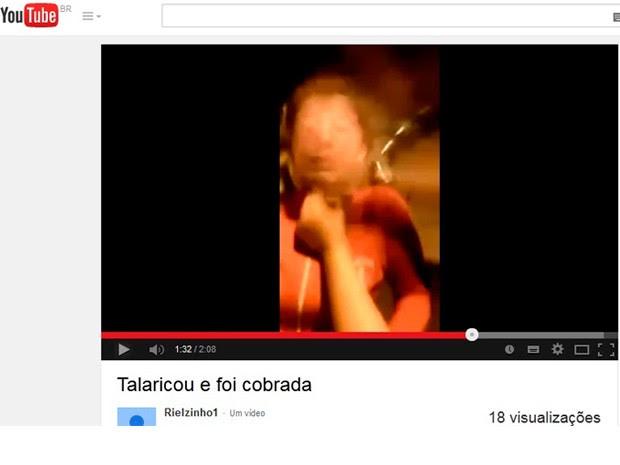 Vídeo de adolescente de Suzano sendo espancada foi parar no YouTube (Foto: Reprodução/YouTube)