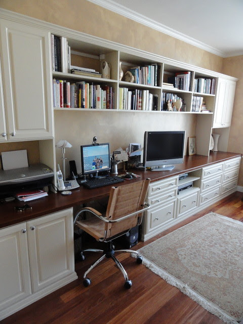 Home Office in Master Bedroom - Traditional - Home Office