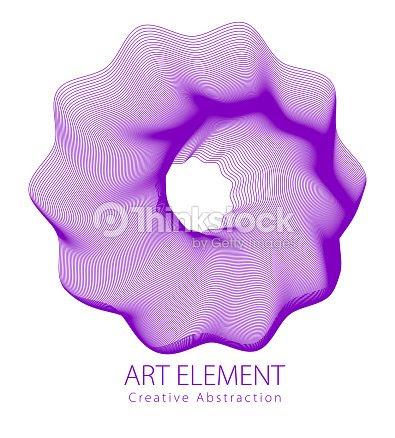 白い背景の上線形花芸術的なイラスト デザインの抽象的なベクトル アート