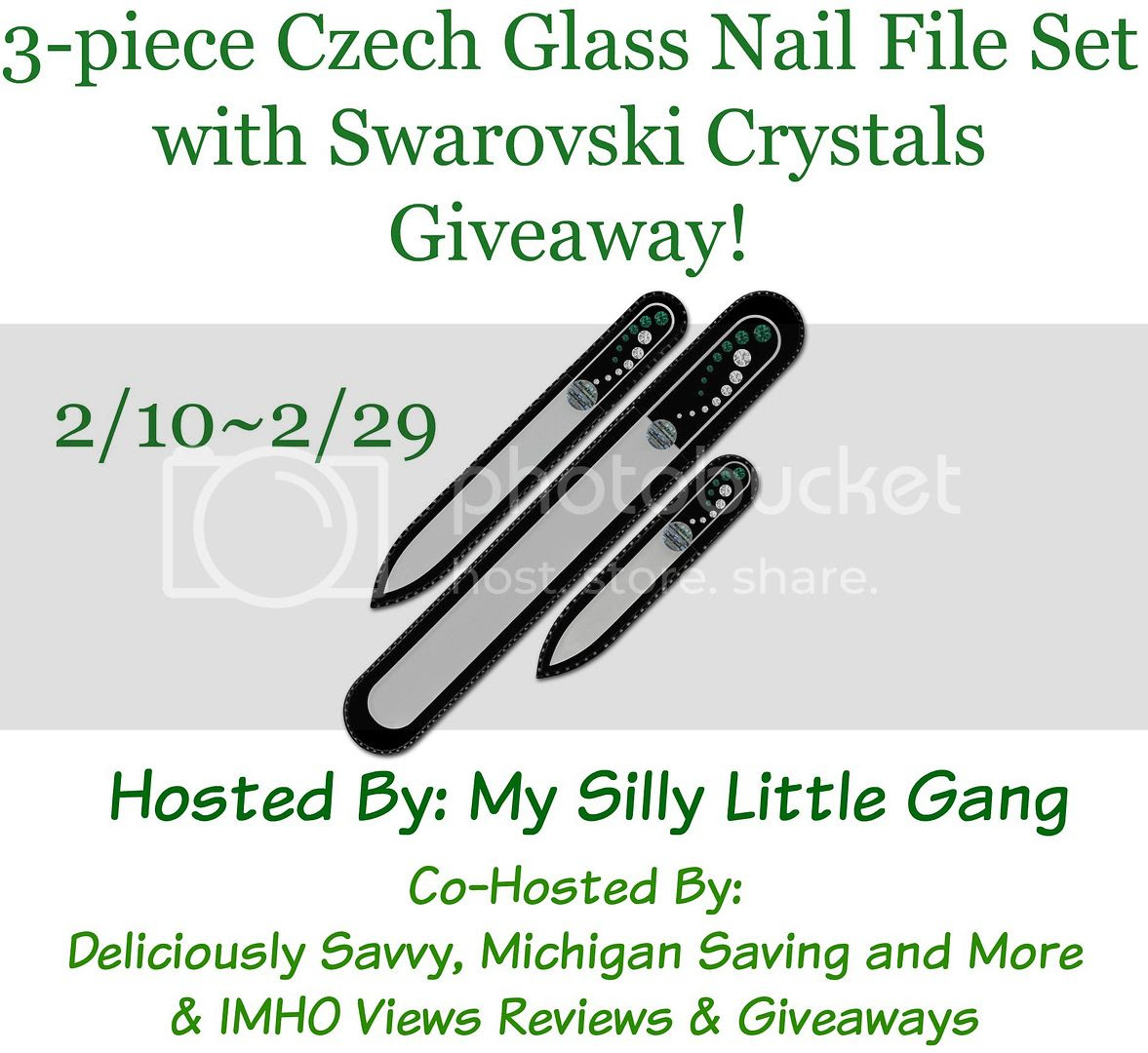 glass nail file giveaway