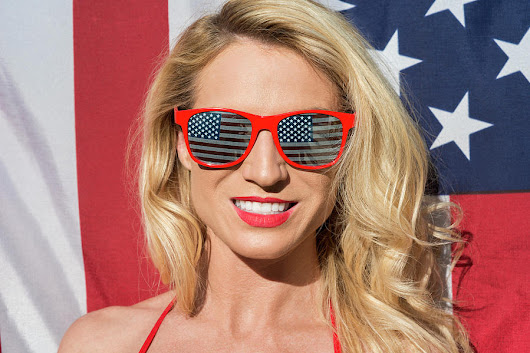 Patriotic American Blonde by Amyn Nasser