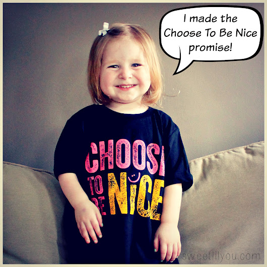 Choose To Be Nice - 25 Simple Ways to Be Nice - sweet lil you