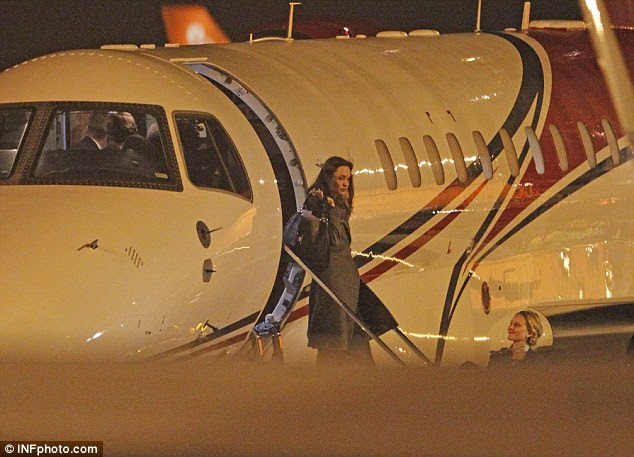 Divorce: TMZ reports that the alleged episode, last Wednesday, prompted Angelina Jolie (pictured disembarking a plane in 2014) to split from the 52-year-old the next day