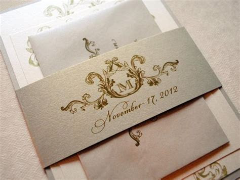 Ivory, Champagne And Gold Wedding Invitations, Elegant