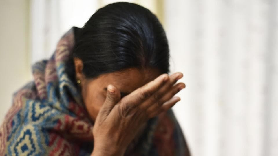Mother of December 16 gang rape victim breaks down during an interaction with Hindustan Times at her residence on Tuesday.