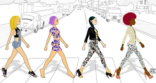 Abbey road is the new catwalk  - Mad Lili