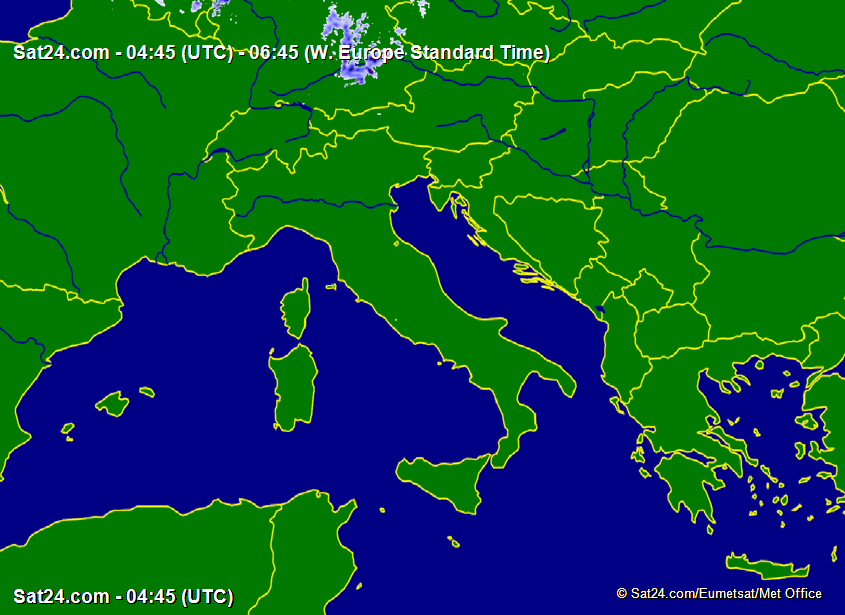 Meteo Real Time: Europa e Italia
