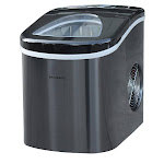 Frigidaire Portable Self Cleaning Ice Maker, Black Stainless Steel