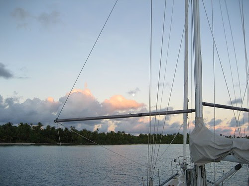 Another gorgeous anchorage, Fakarava