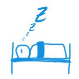 Schlafender im Bett