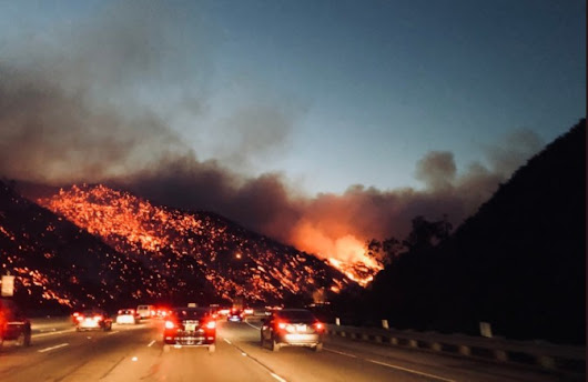 Videos and Pictures from the Thomas Fire, Skirball Fire, Rye Fire, Creek Fire -