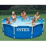 Intex Metal Frame Swimming Pool, Blue