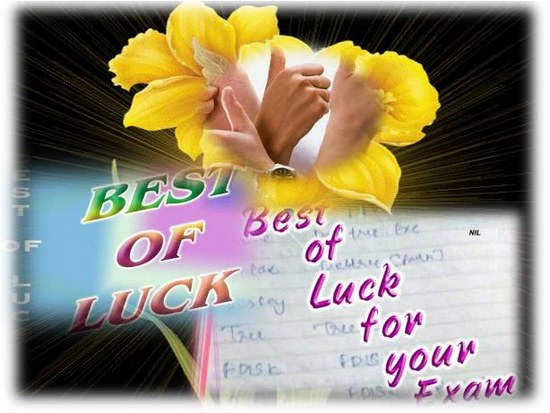 Best Of Luck On Your Exam Pictures Photos And Images For Facebook