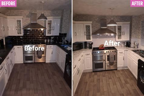 thrifty woman revamps  kitchen     paint