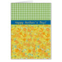 Mother's Day Card, Daffodils and Check Gingham