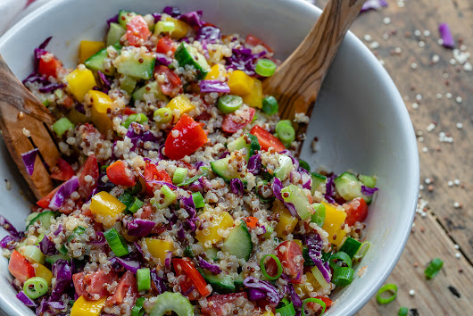 Vegan Chopped Salad With Quinoa - Recipe Video | Blondelish