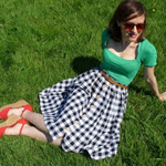 Checked Picnic Blanket Skirt