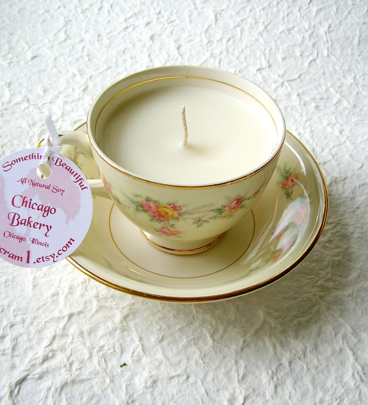 Chicago Bakery Vintage Soy Teacup Candle