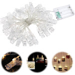 Tomshine 40 LEDs Photo Clip String Light Battery Powered 5M/16.4FT for Living Room Bedroom Party