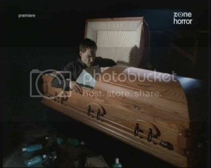 Vic in coffin