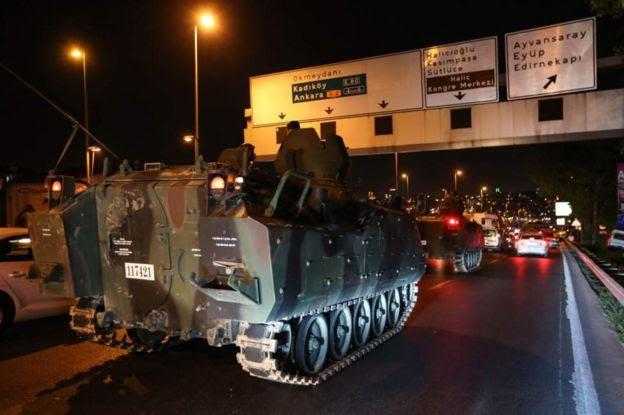 Tanques em Istambul