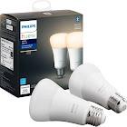 Philips - Hue White A19 Bluetooth Smart LED Bulb (2-Pack) - White