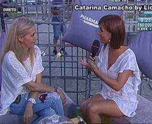 Catarina Camacho sensual em tempos passados na Rtp
