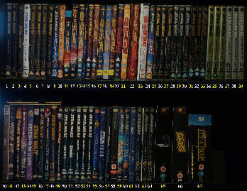 Star Wars DVDs, 2000 to present. Click for bigger.
