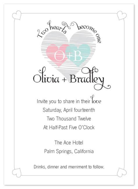 wedding invitations   Two Hearts Become One at Minted.com