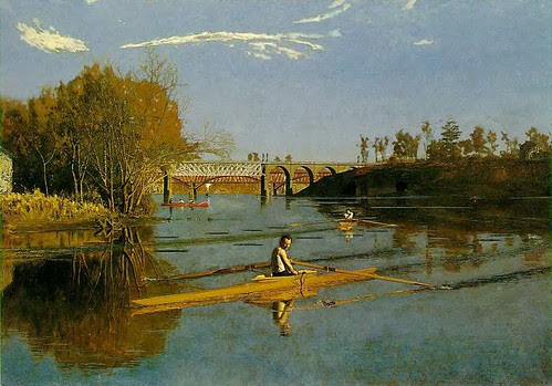 Eakins, Thomas (1844-1916) - 1871  Max Schmitt in a Single Scull by RasMarley