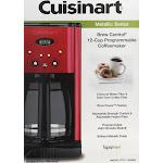 Cuisinart Brew Central Brew Central 12 Cup Programmable Coffeemaker - Red