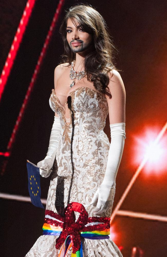 Amina Dagi, Miss Austria 2015 debuts her National Costume on stage at the 2015 Miss Universe Pagaent on December 16, 2015 in Las Vegas. Picture: HO/The Miss Universe Organization