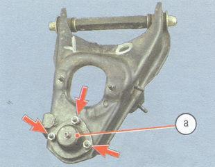 статья про Снятие и установка нижнего рычага передней подвески на автомобиле ВАЗ 2106