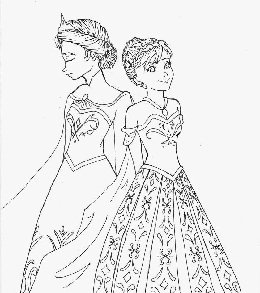 Frozen Anna And Elsa Drawing At Getdrawingscom Free For Personal