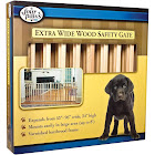 Four Paws Vertical Wood Slat Pet Gate, Brown