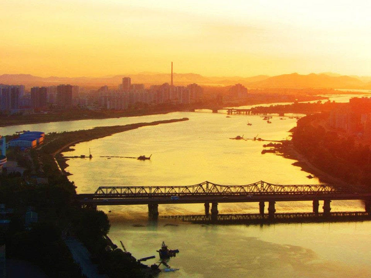 Next, they were taken to the Yanggakdo Hotel on Pyongyang Island, where, according to Justin, foreigners are required to stay on the 25th floor. The two weren't allowed to leave the hotel until they were picked up by their government escorts each morning.