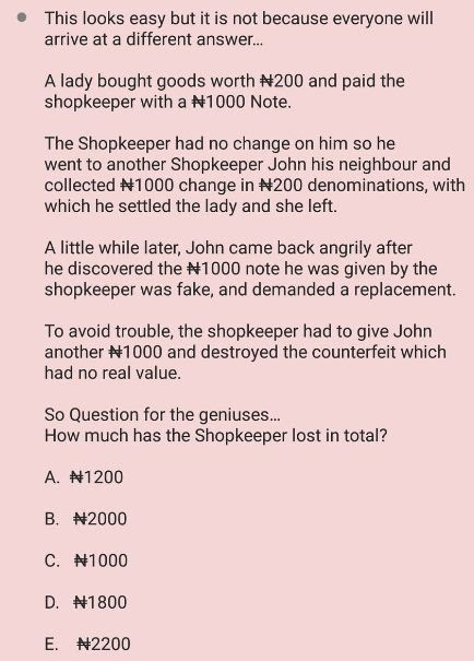 Brain Teaser! Only A Genius Can Answer This Question (See) ~ Raynewsng - Latest News and Entertainment Zone