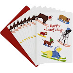 Waste Not Paper - Happy Howl-idays Holiday Card - 10 Pack