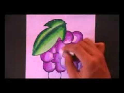 Menggambar Dan Mewarnai Sebuah Anggur Dengan Menggunakan Crayon