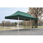 PatioPlus 10x20 ST Pop-Up Canopy Green Cover Black Roller Bag PA518193